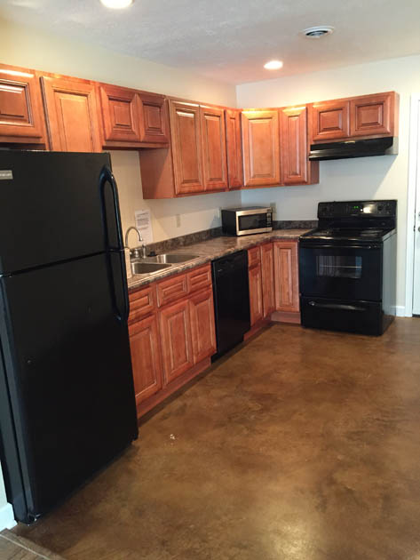 Ravenwood Apartment's kitchen in Martin, Tennessee