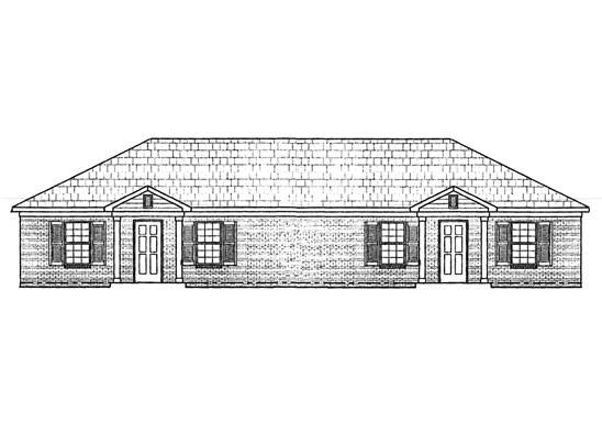 Front view drawings for the one & three bedroom vintage hill apartments in Martin, Tennessee